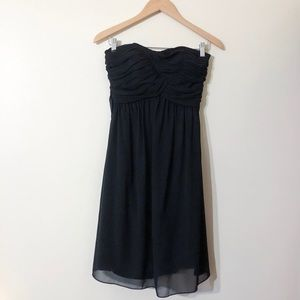 white house black market | strapless chiffon dress